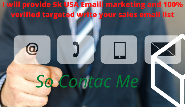 I will provide 5k USA Emaill marketing and 100% verified targeted write your sales email list