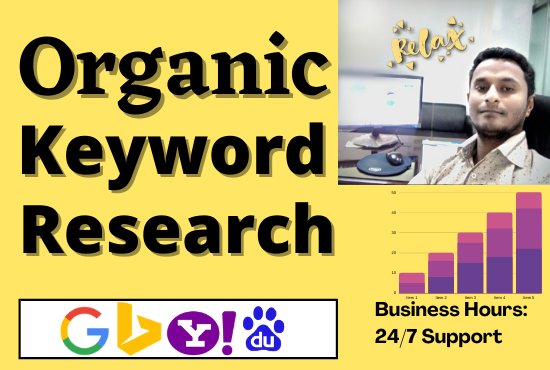 I will do organic keyword research for your website ranking