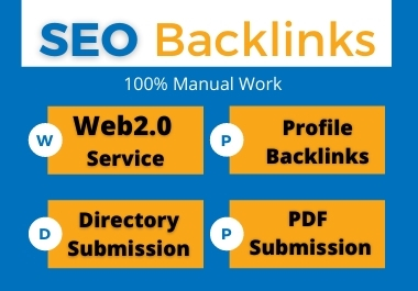 SEO Backlink Services package 50 Backlinks each