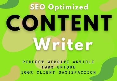 I will provide you perfect website content or blogs post