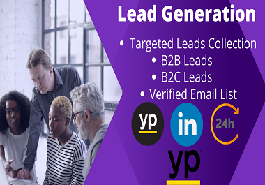 I will do 100 Lead Generation with valid emails