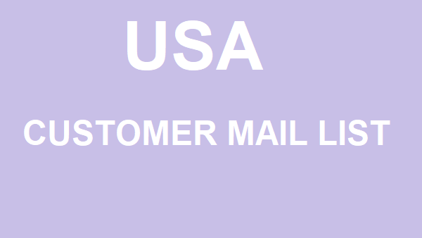 I offer you to consumer list for usa