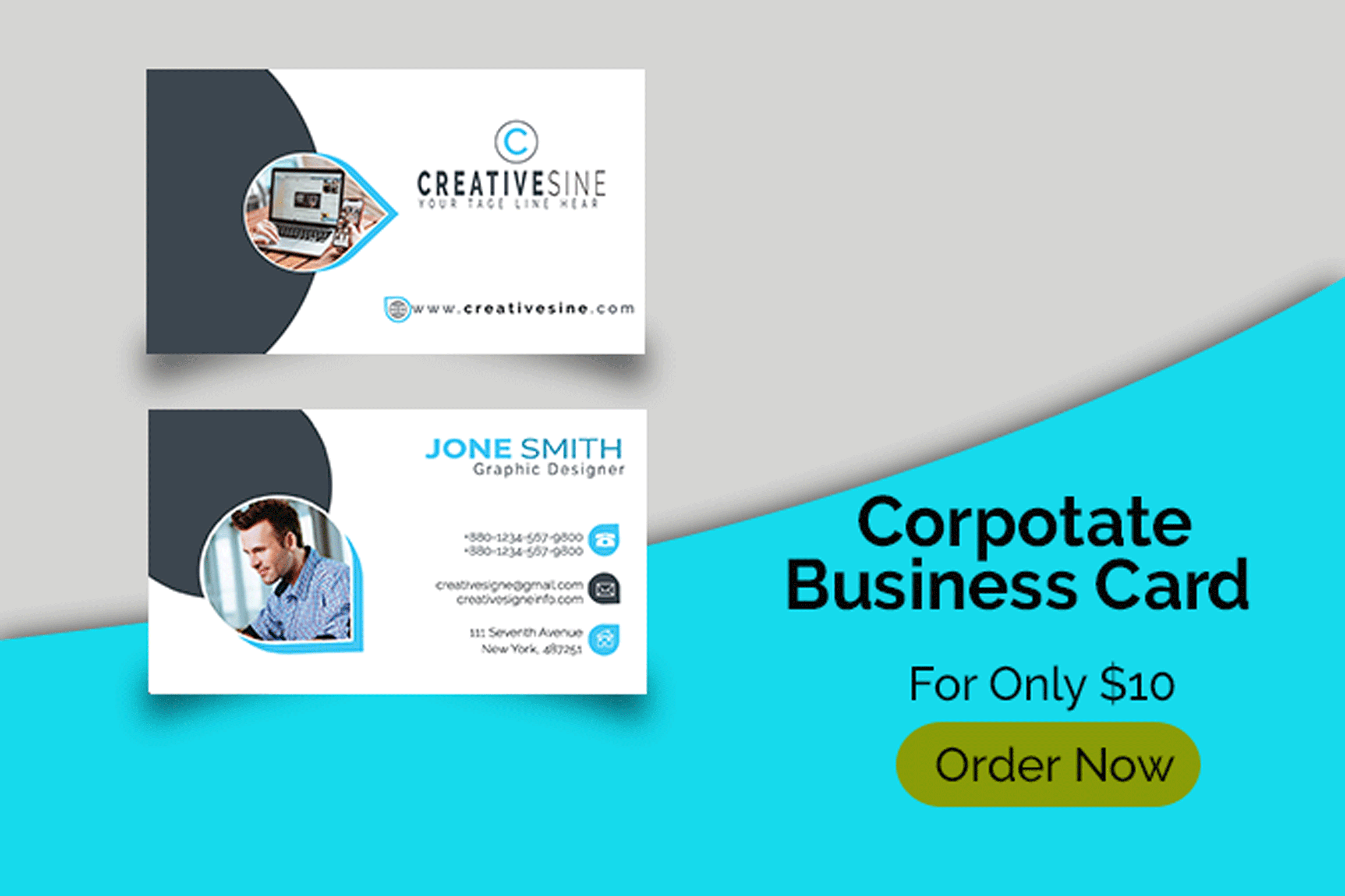 I will design professional business card, id card and stationery