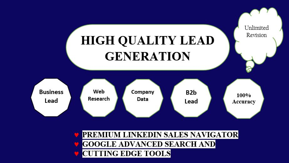 100 percent verified and Accurate Lead Generation Service ( 30 leads in per order)