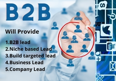 I will provide you 100 targeted b2b niche based lead
