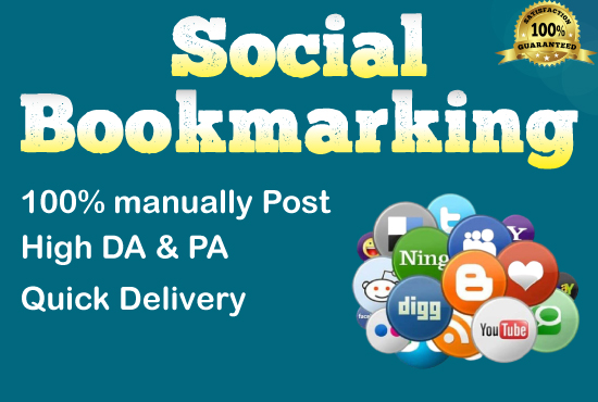 I will do 50 social bookmarking with high backlinks for google ranking