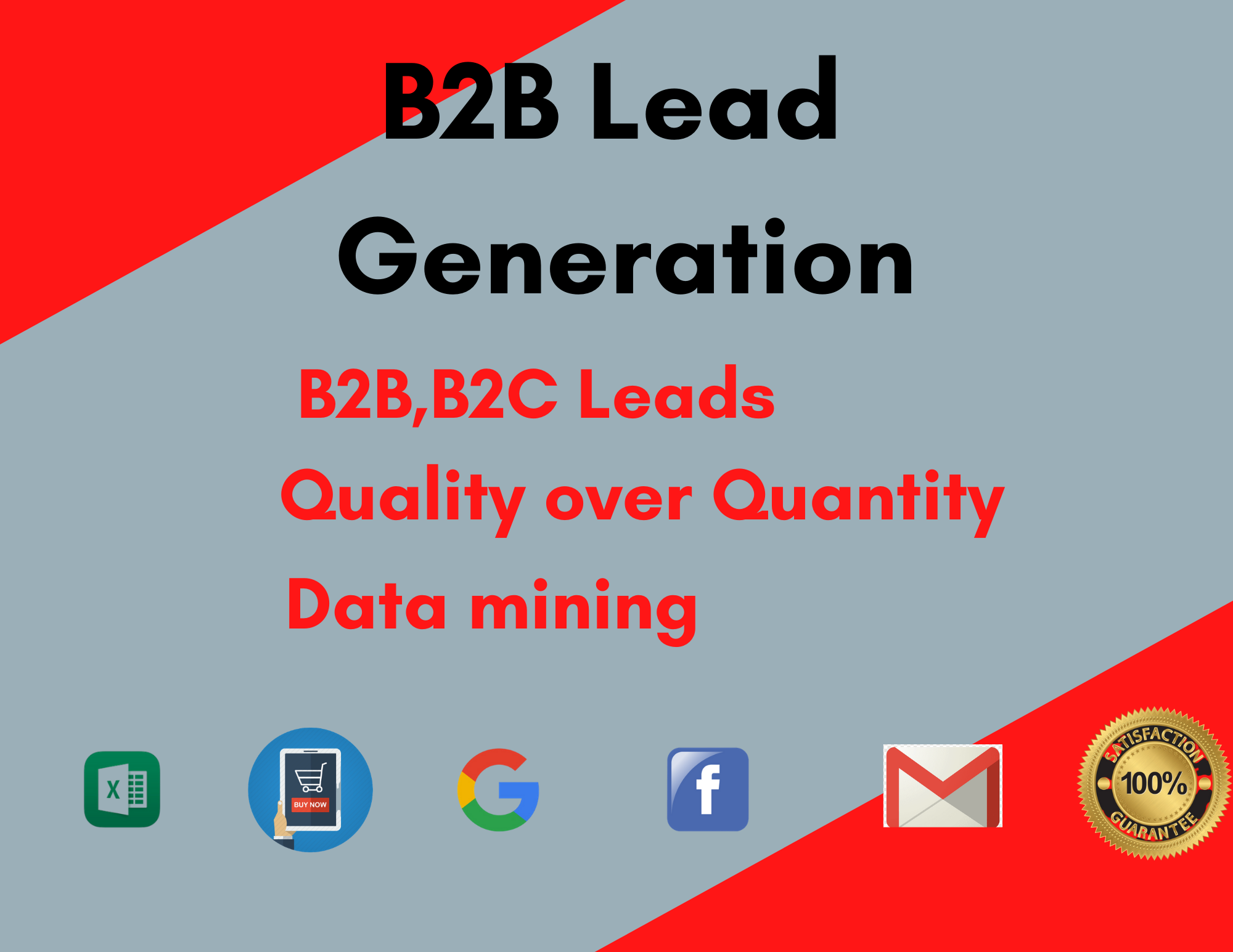 I will collect authentic b2b lead generation and collect 100 linkedin leads