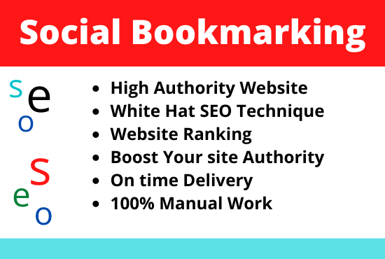 I will do 50 social book marking and off page SEO