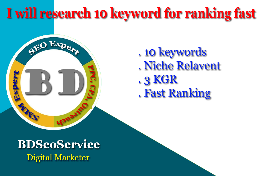 I will research 10 keyword for ranking fast
