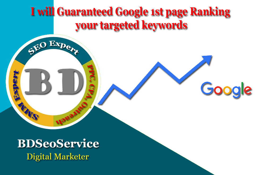 I will Guaranteed Google 1st page Ranking your targeted keywords