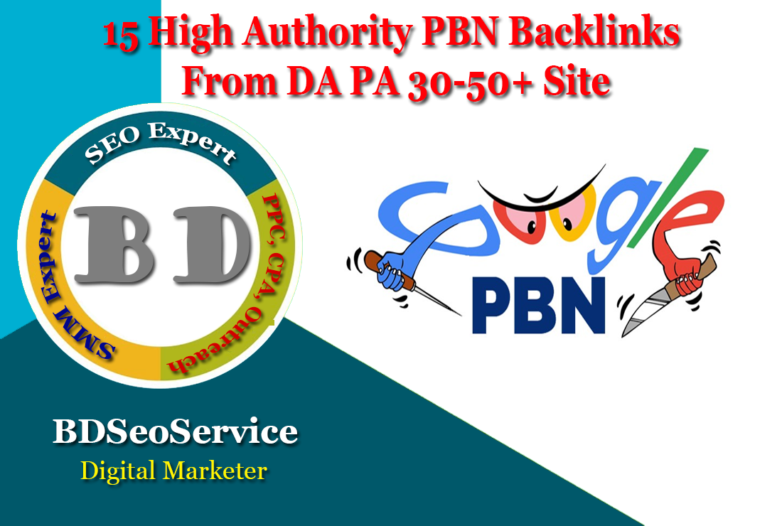 15 High Authority PBN Backlinks From DA PA 30-50+ Site