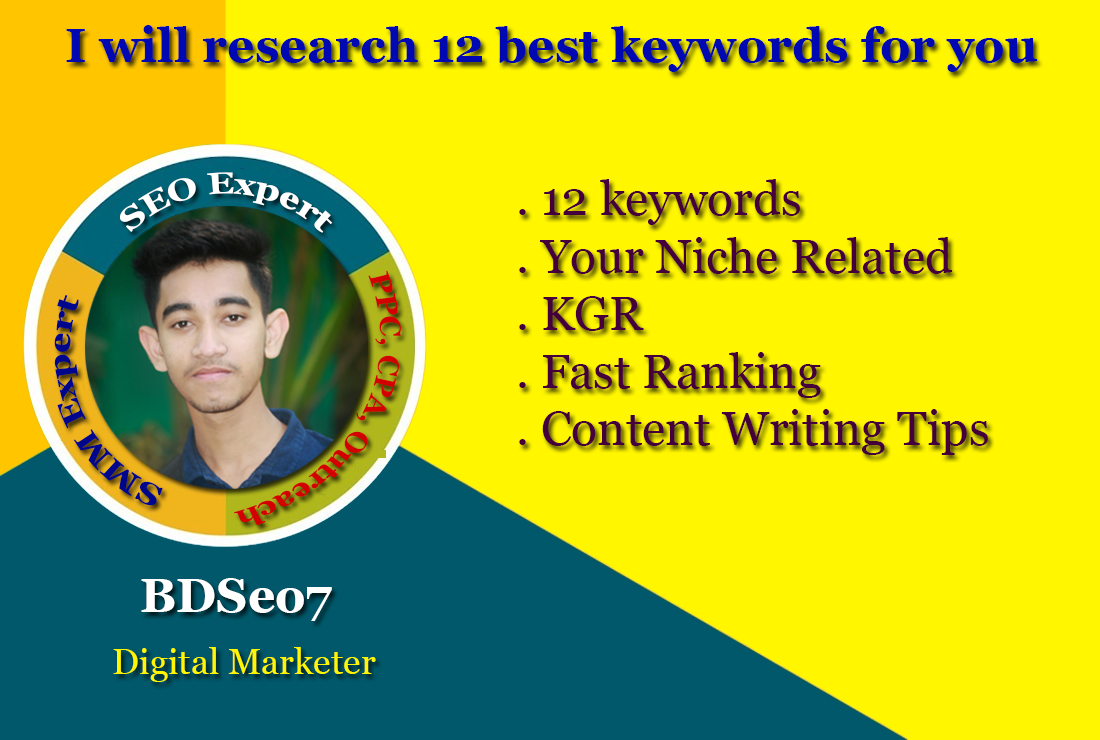 I will research 12 best keywords for you