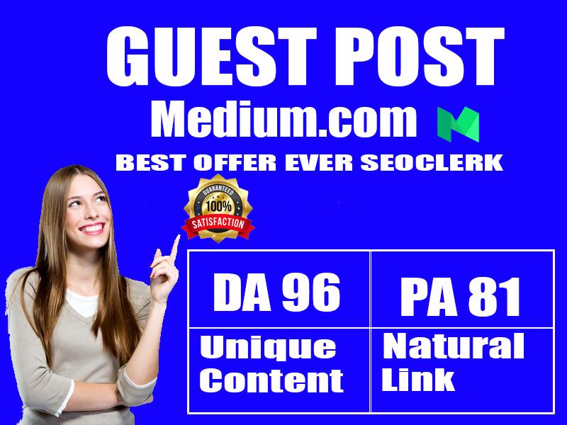 I will Write & Published Guest Posts on Medium High Quality DA & PA Permanent Back-links