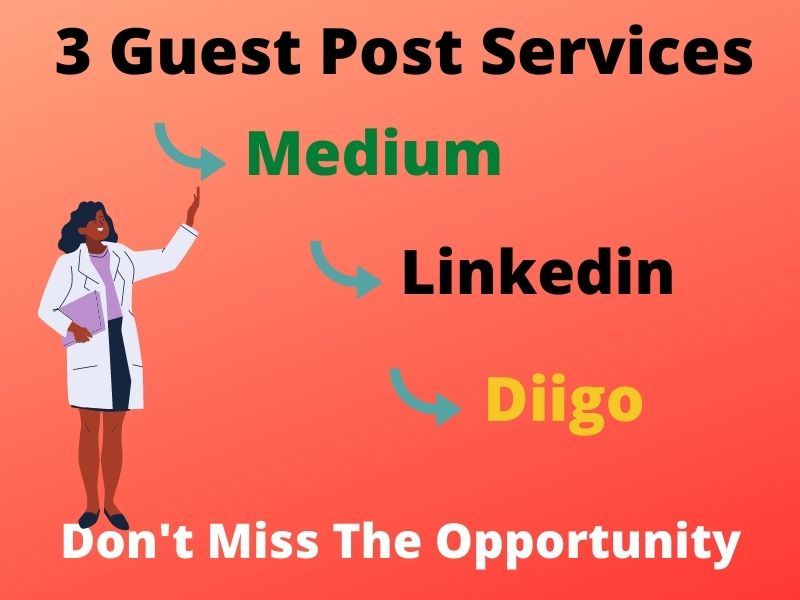 I will write and publish SEO Optimize Guest Post on 3 Top sites