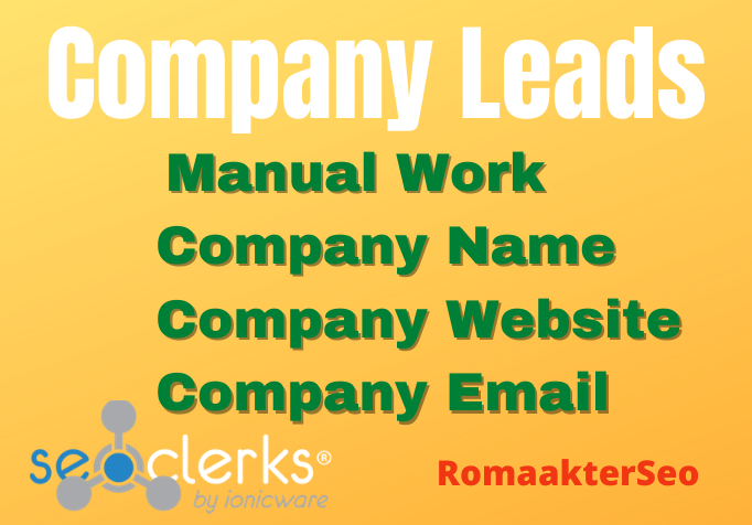 I will collect perfect company leads based on your targeted area for business to business service
