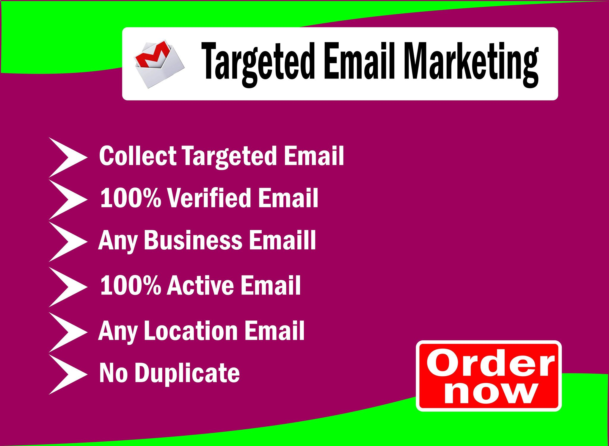 Grab targeted consumer email list from USA to promote your business by email campaign