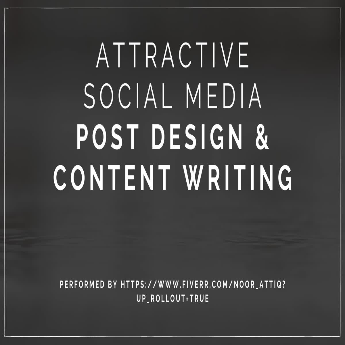 I will create an attractive posts for Social Media