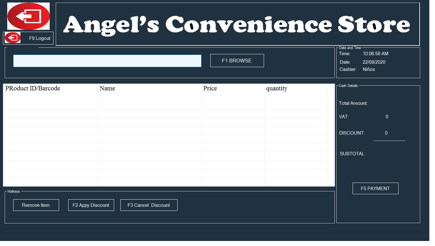 POS and Inventory System with Employee transactions tracking and Sales reporting for all times.