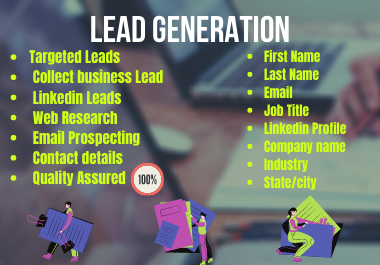 I Will Do B2B Lead Generation and Build Prospect Email List.