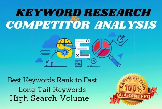 I will do keyword research and competitors analysis