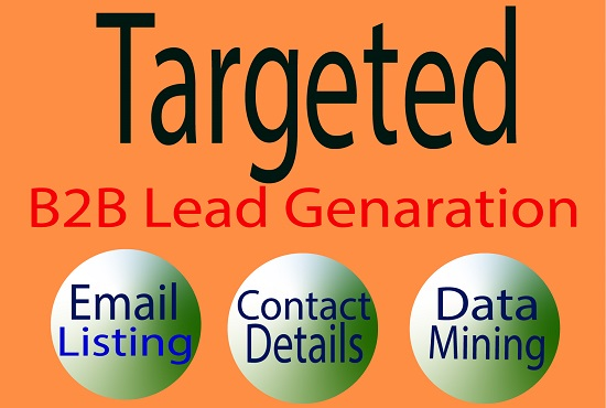 I will do b2b lead generation and build targeted contact list