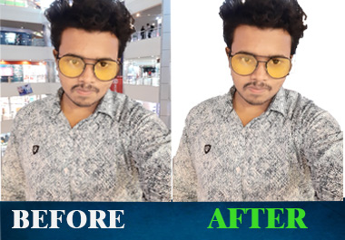 I will do professional photoshop editing for 10 images.
