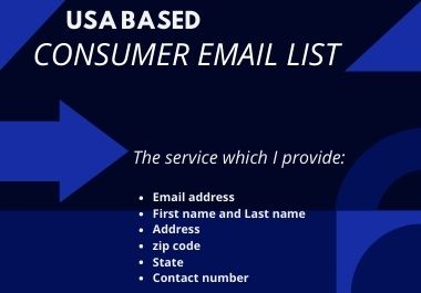 1k fresh USA based consumer email list