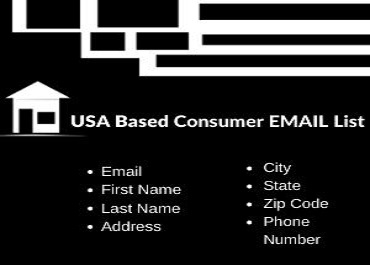 You will get 1K fresh & verified USA consumer list