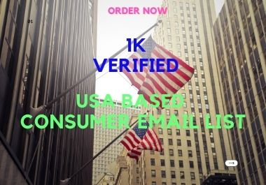I will give you 1k verified USA based Email list for Promoting your business