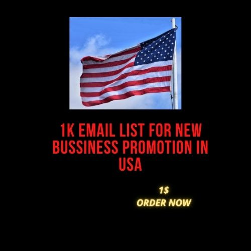 1k EMAIL List for New Business Promotion in USA