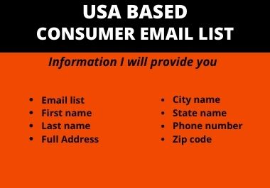 You will receive 1000 verified USA based consumer Email