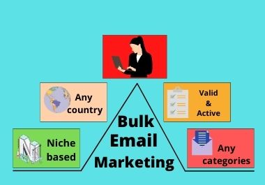 You will receive 2000 valid and active niche based bulk email list for your business