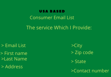 1000 fresh USA based consumer email list for email campaign