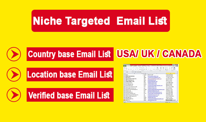 I will collect niche and location-targeted email lists clean and verified