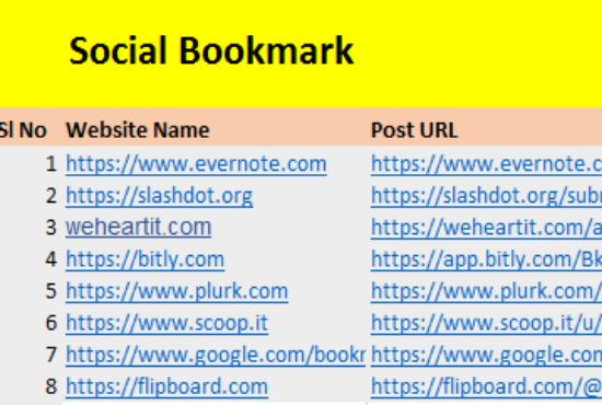 I will do High DA PA Social Bookmarking SEO Backlinks