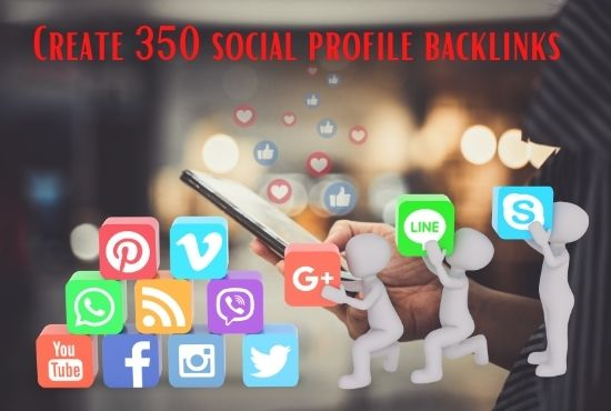I will create 40 social profile Back links