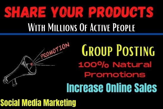 I will share any adds or link USA UK group to promote your business