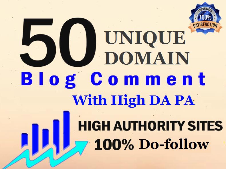 I will build 50 permanent dofollow Blog Comments UNIQUE DOMAIN