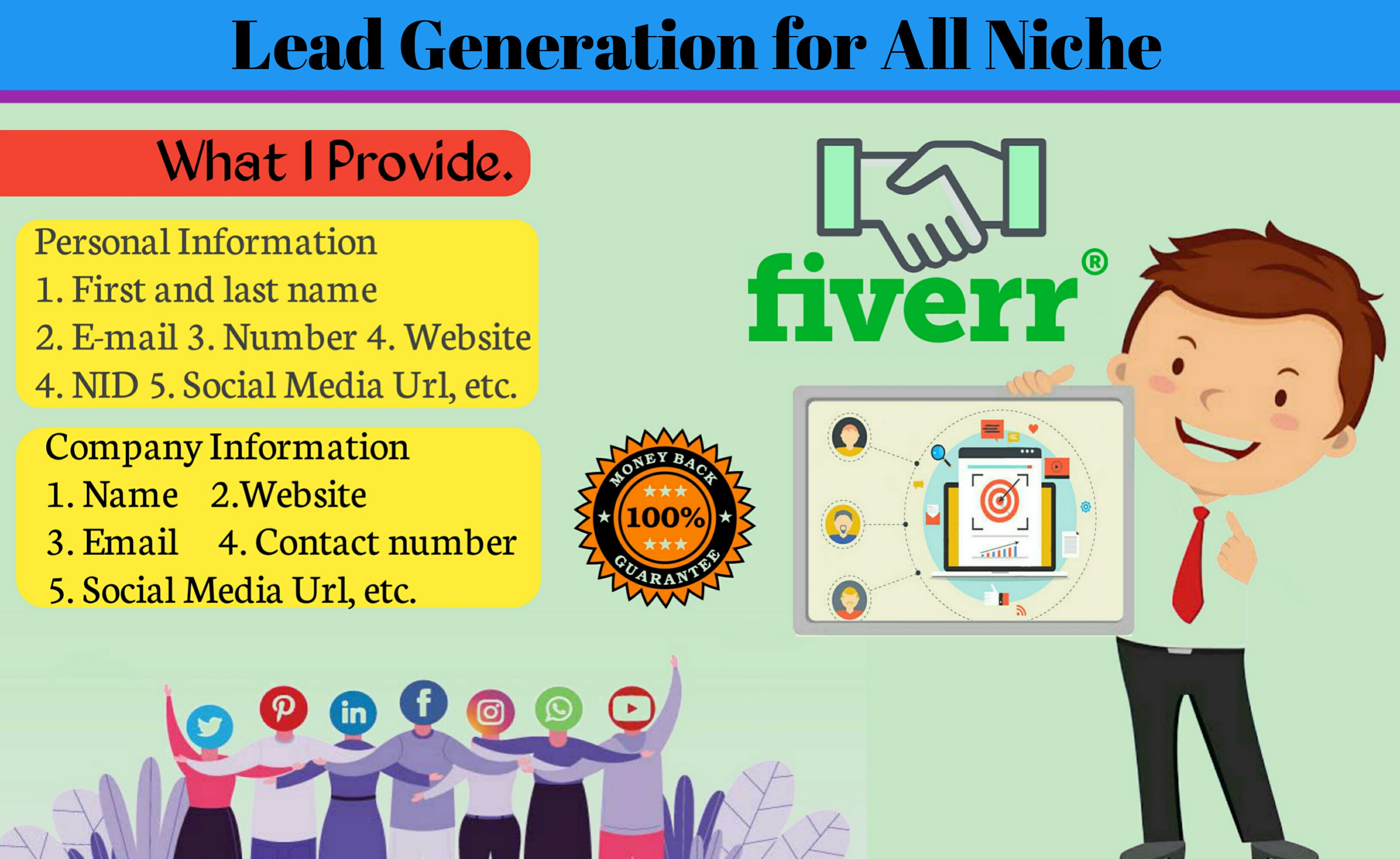 I will do lead generation for all niche, b2b lead generation, linkedin lead generation