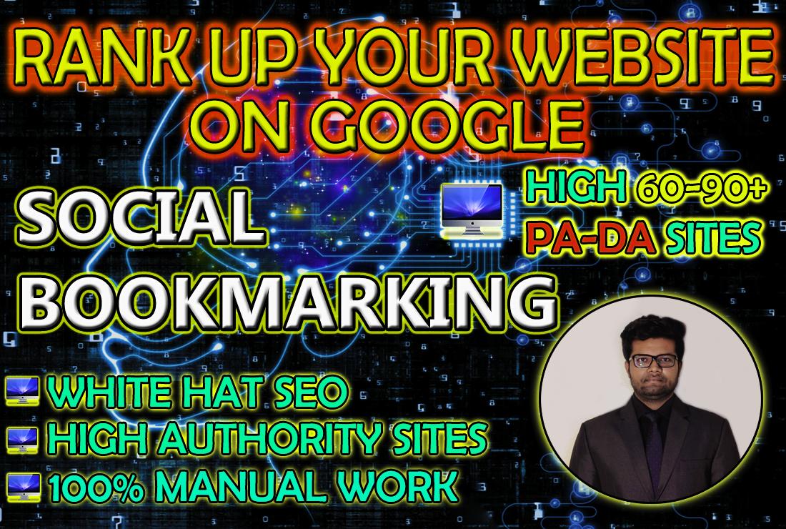 Social Bookmarking on High DA-PA sites