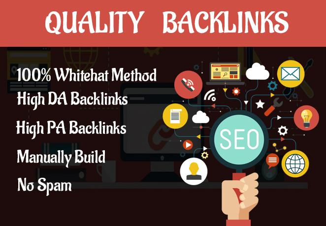 I will provide high quality dofollow SEO backlinks