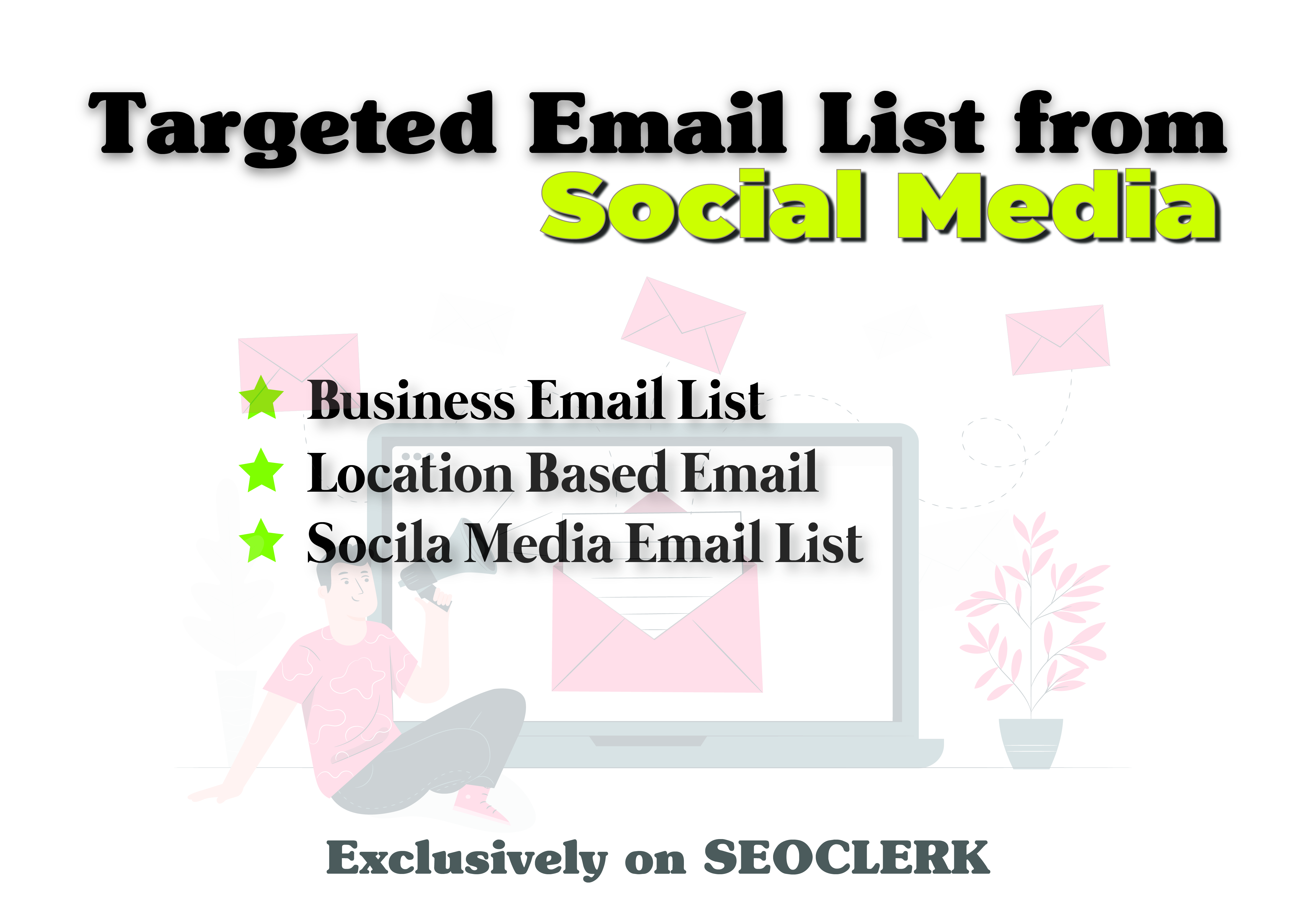 I will scrape 1k niche targeted email list from social media