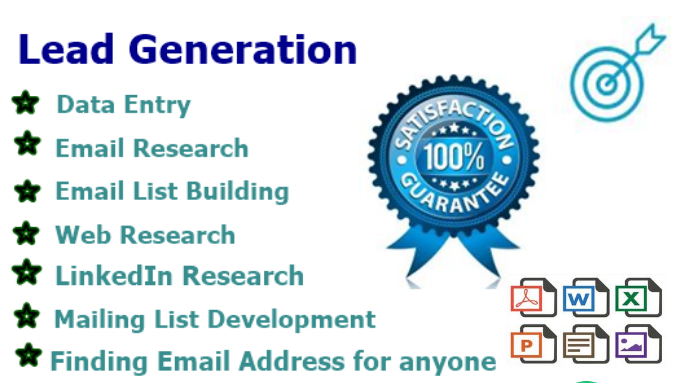 I will do data entry copy paste and lead generation