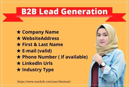I will do 15 b2b lead generation and targeted lead generation
