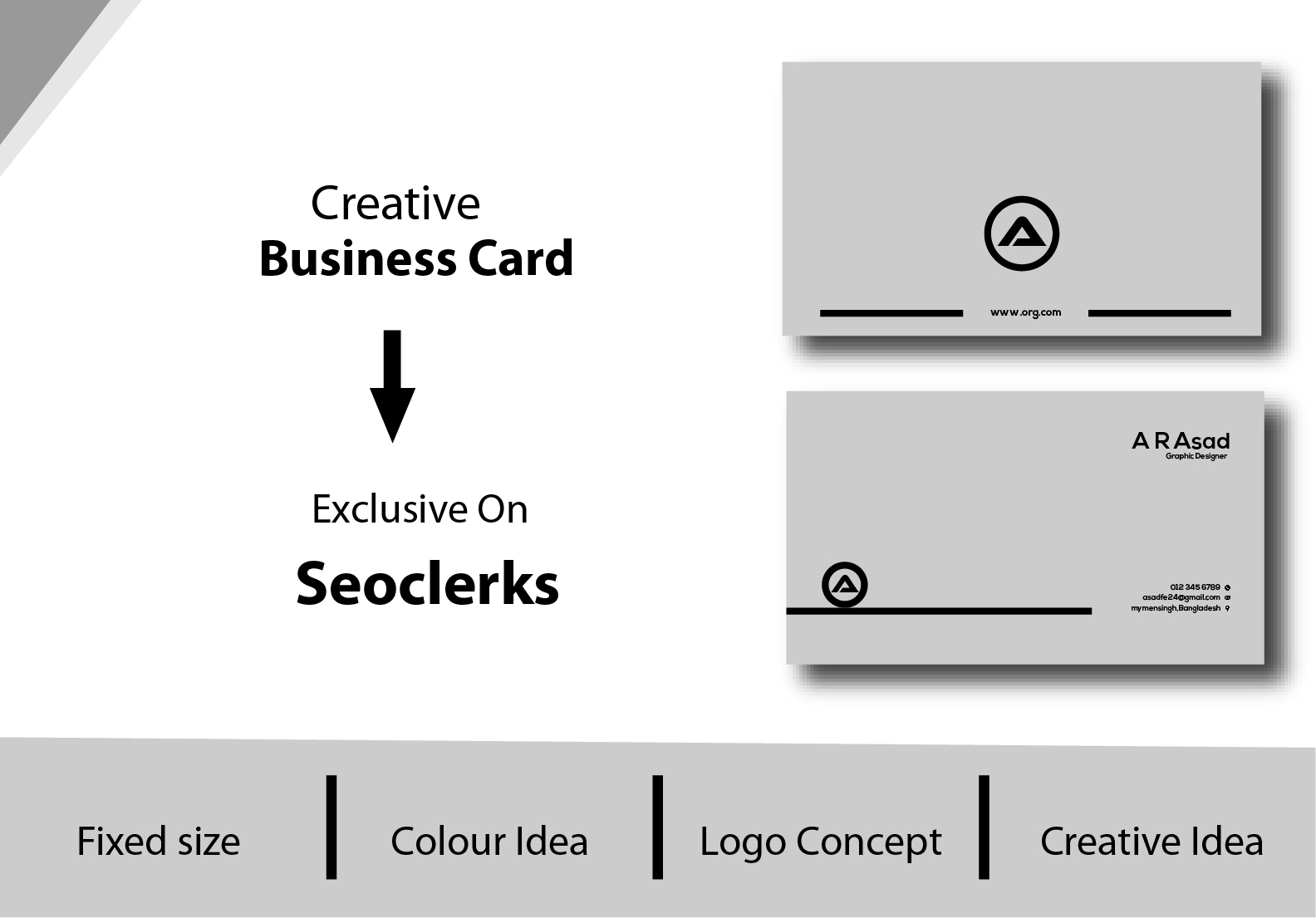 I will make awesome business card in cheap price