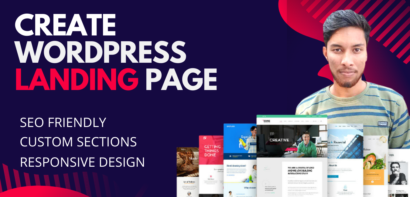 I will create Professional WordPress Portfolio or Landing Page Website