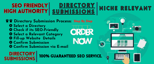 Niche relevant 30+ Directory Submissions - Guaranteed SEO Service