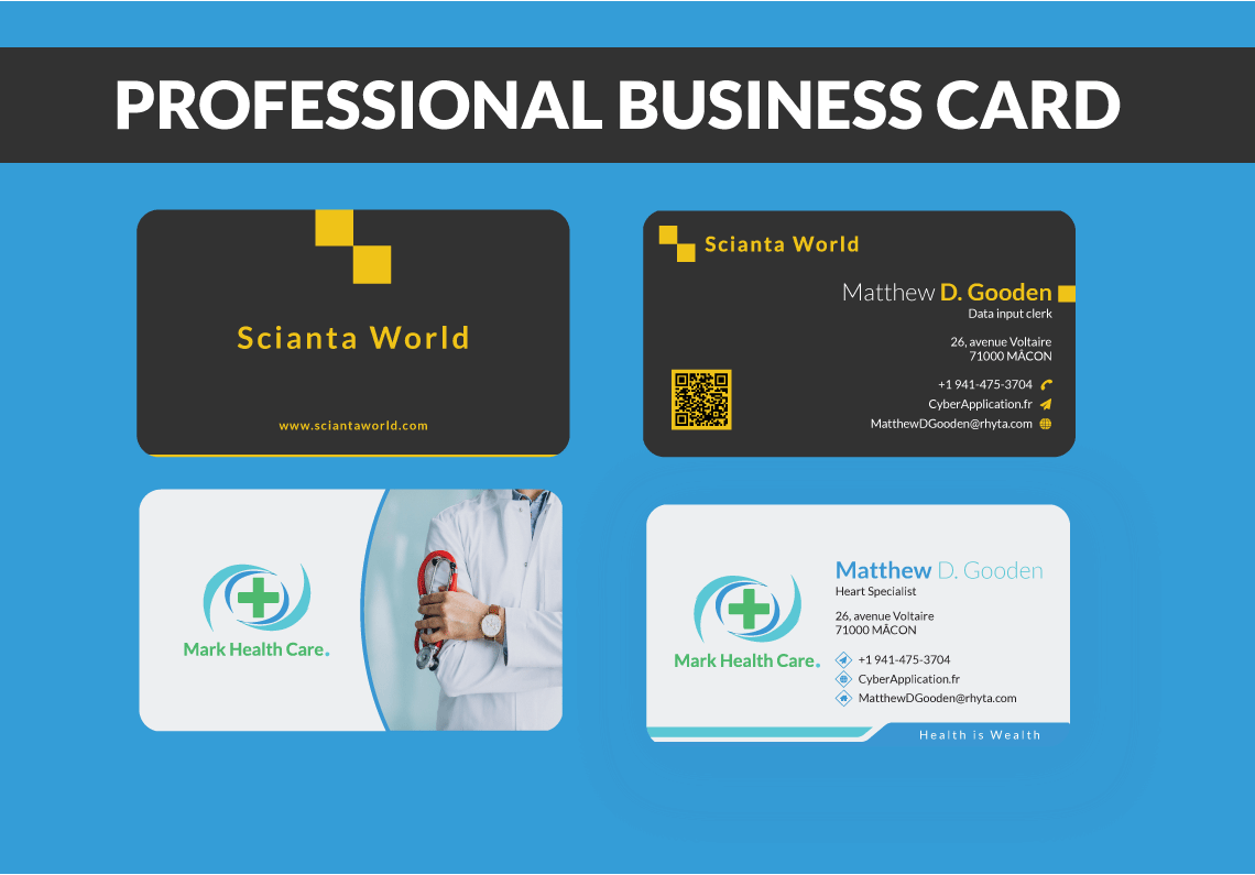 Elegant professional business card design