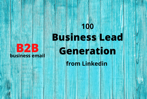 I will collect 100 business email and data from linkedin