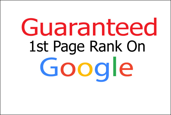 I will Give Guaranteed Rank Your Website on Google 1st Page ranking